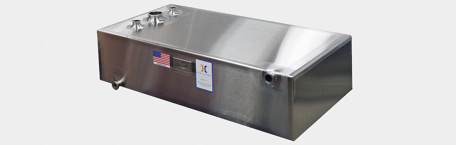 Atmospheric tanks by Holloway come with vertical tank design or horizontal, like this one.
