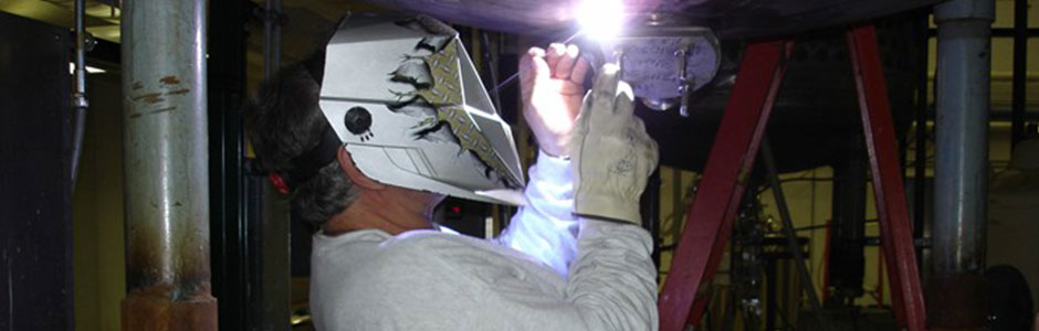 Our stainless steel repairs include heavy equipment repair.