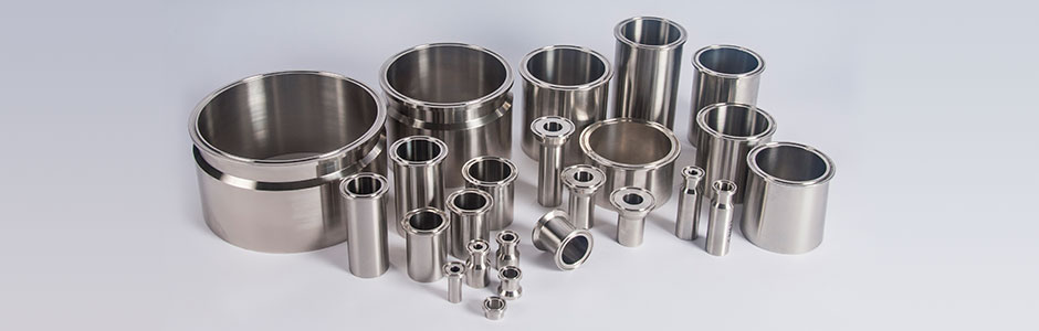 HOLLOWAY fabricates ASME-code stainless steel ferrules and tri-clamp fittings.