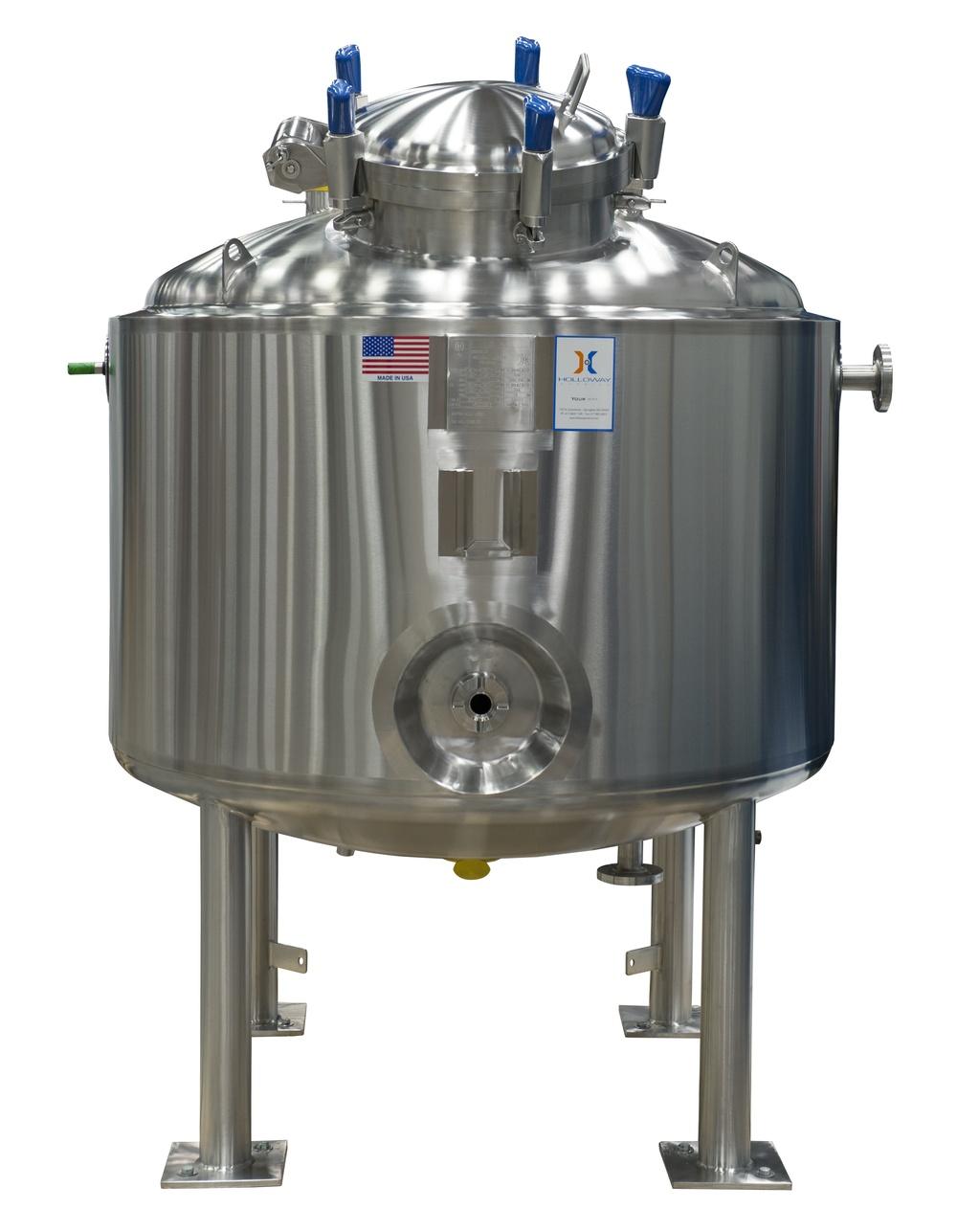 HOLLOWAY proudly produces pharmaceutical stainless steel solutions like this CIP vessel.