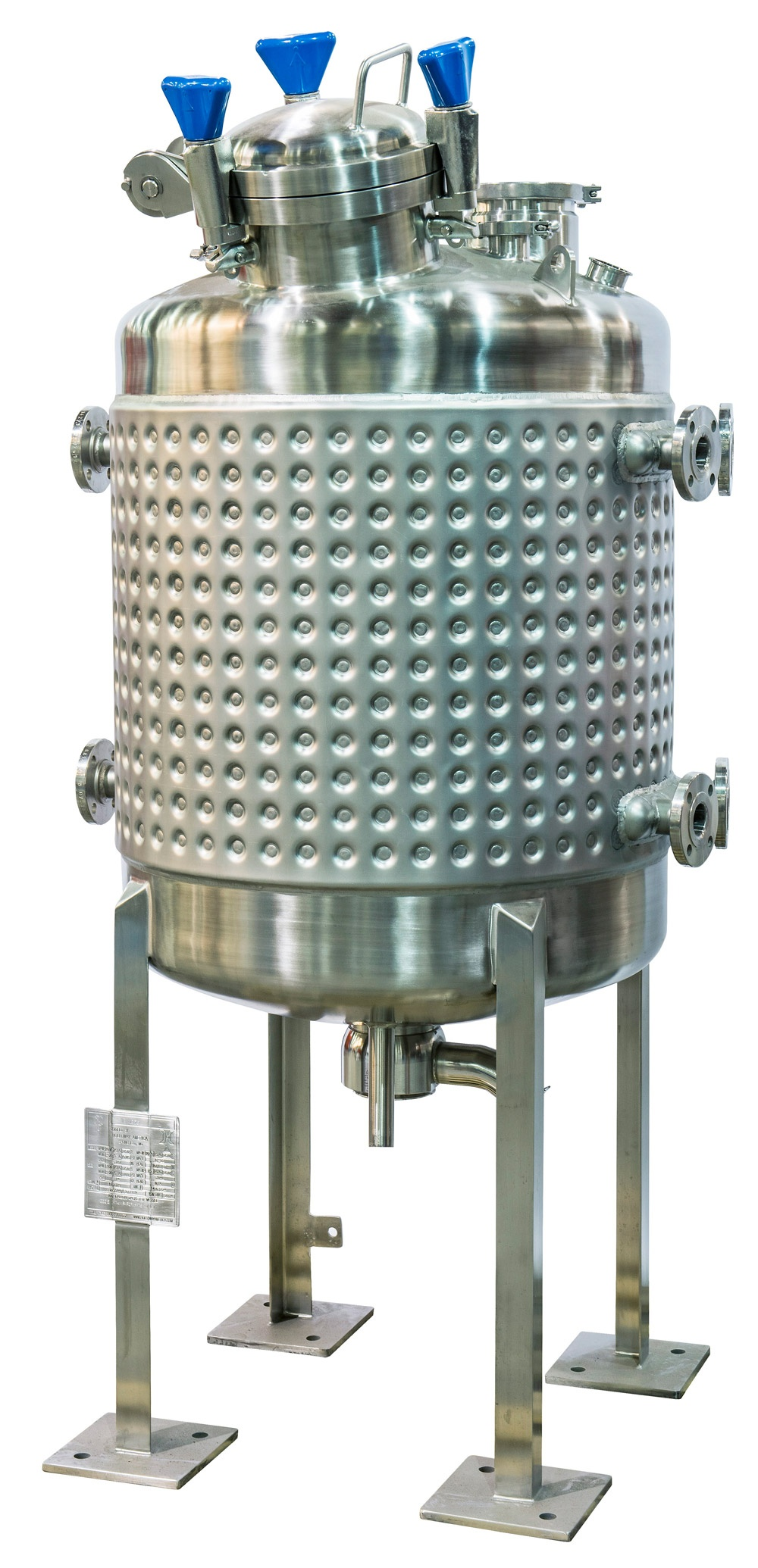 HOLLOWAY offers stainless steel mixing tanks and milk cooling tanks like the one shown here.