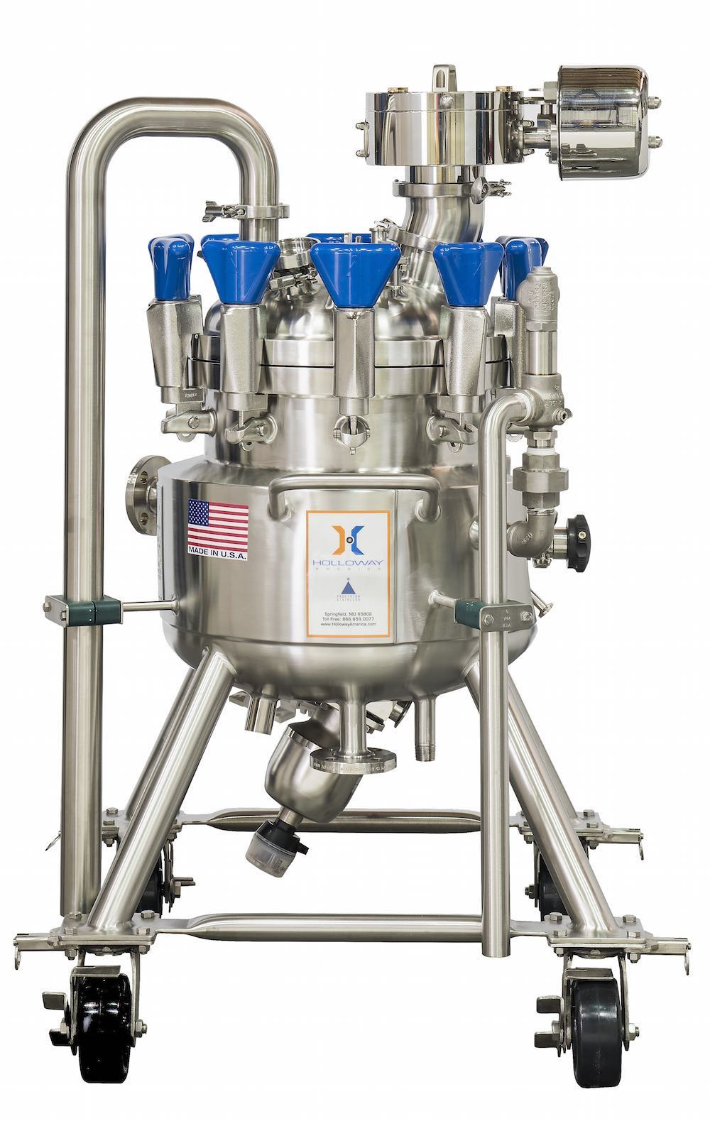 Tested to ASME pressure vessels standards, this ASME mixer tank is built to code.