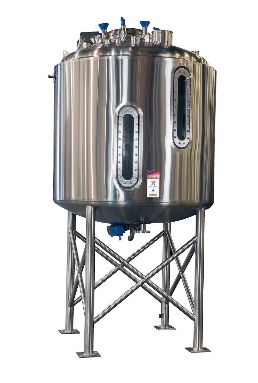 To meet ASME pressure vessels standards, this tank with sight glass follows the stainless steel ASME code.