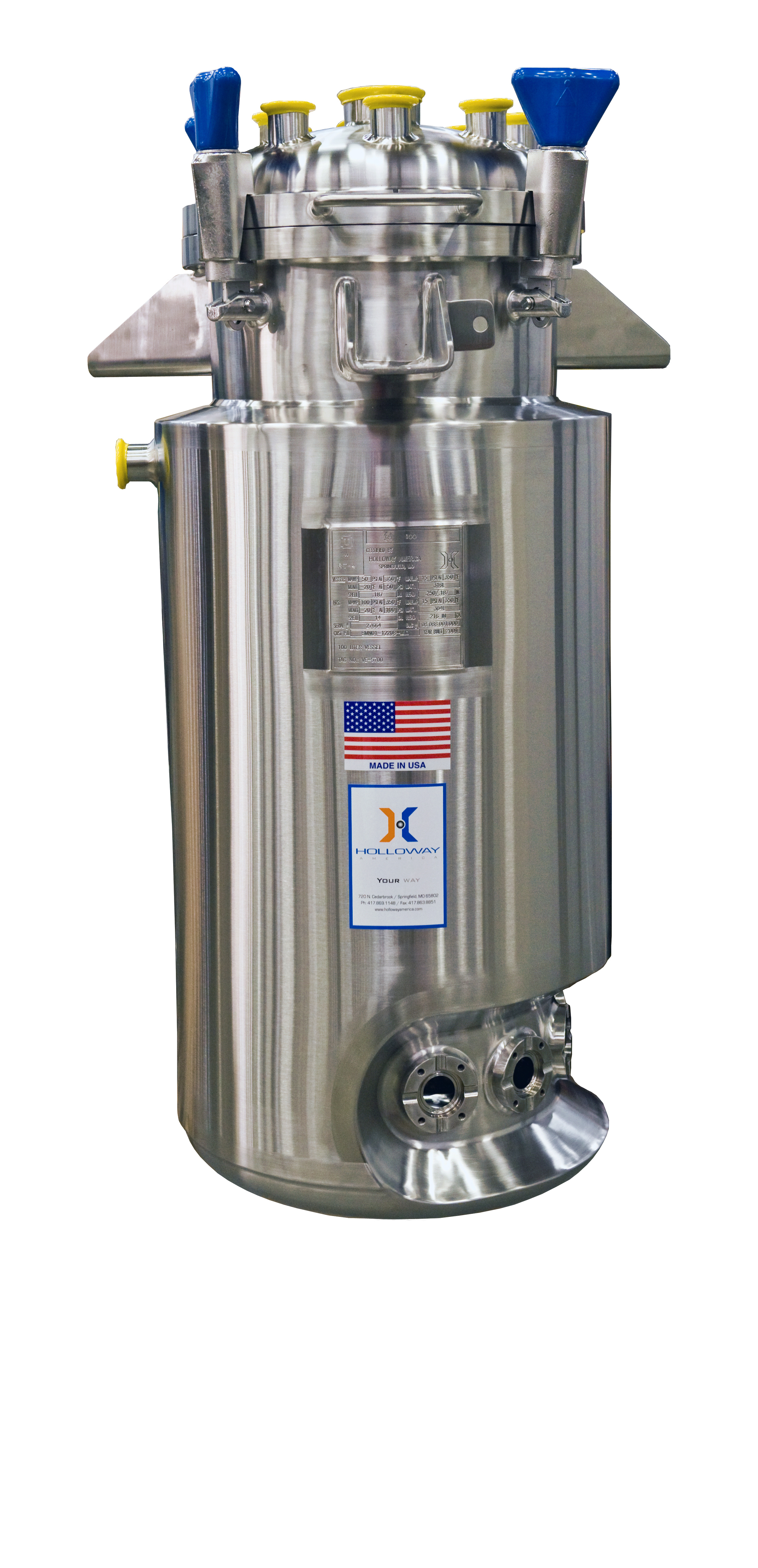 So you can adhere to stainless steel ASME code standards, invest in our ASME pressure vessels and tanks.