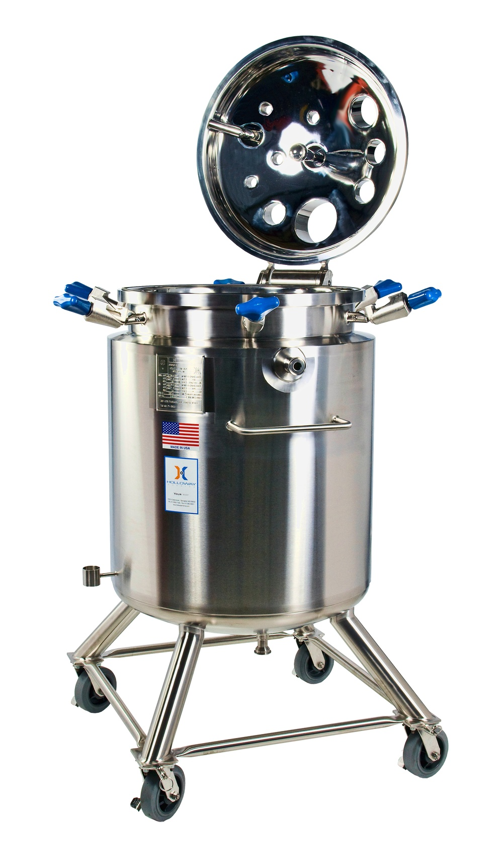 An open top like this vertical vessel makes our portable pressure vessels popular.