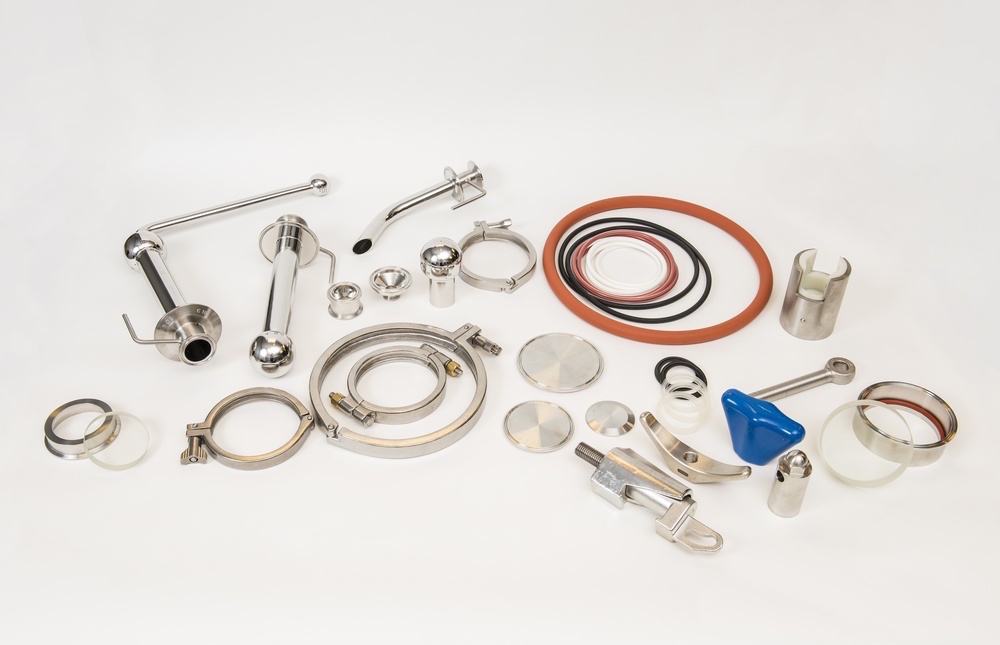 Precision Stainless pressure vessel parts are all original.